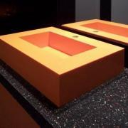 Ordinaire ... Orange Sink And Countertop From Solid Surface