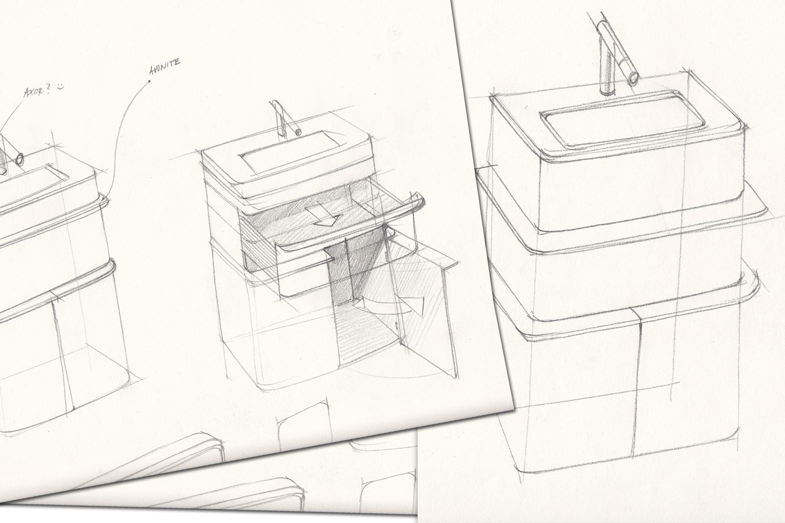 Line Art Bathroom Furniture : Bathroom furniture aqualight from solid surface cetecho